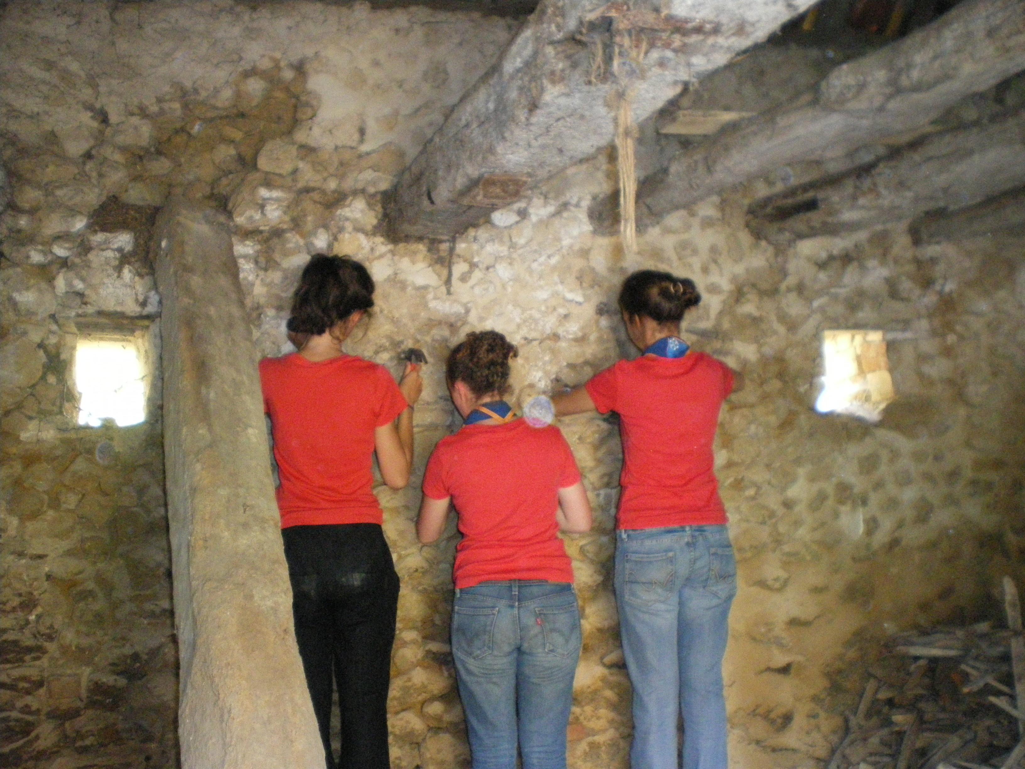 Les murs du rez-de-chaussée ont également été rénovés.