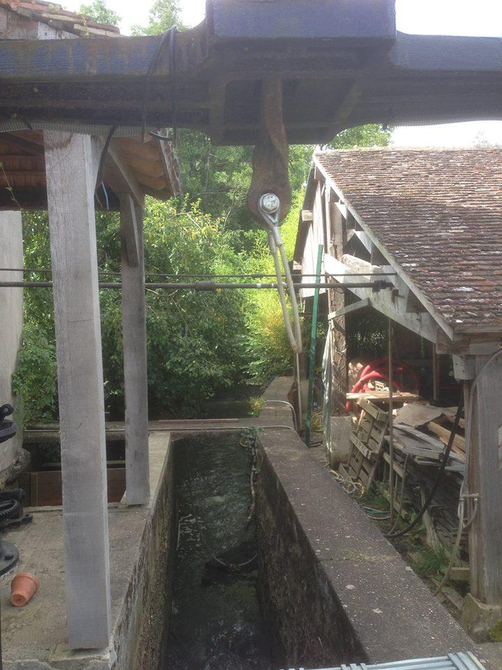 Moulin de l'Orière - nouvelle vanne 2016