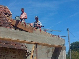 finalisation toiture sanitaires