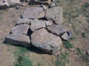 Préassemblage des pierres