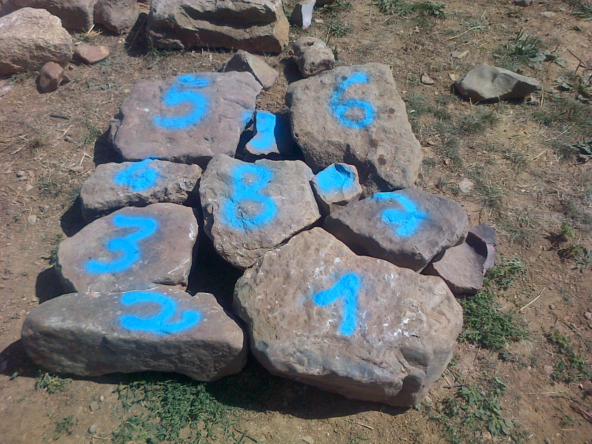 Numérotation des pierres