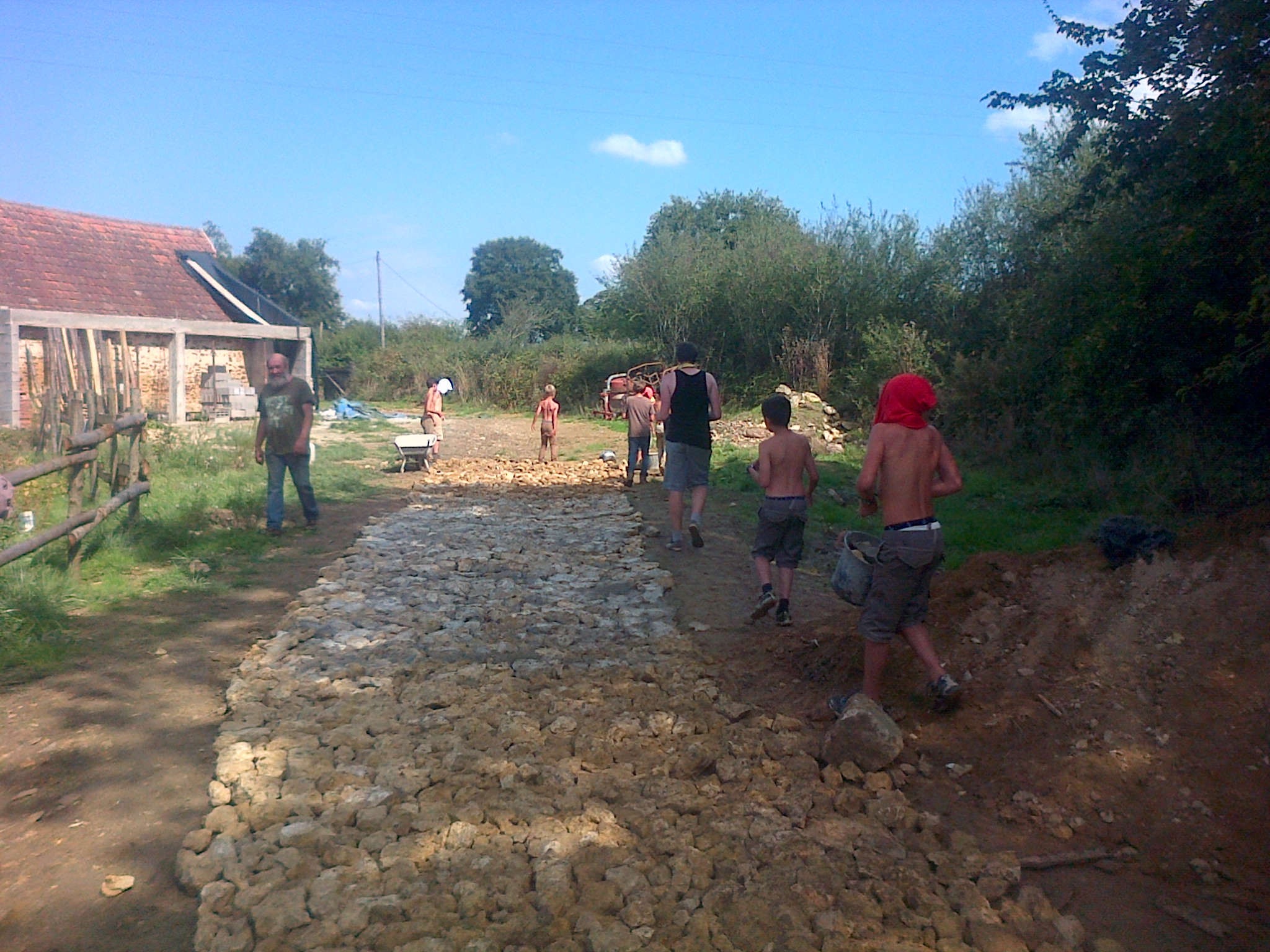 Moulin de l'Orière - Construction d'une voie romaine