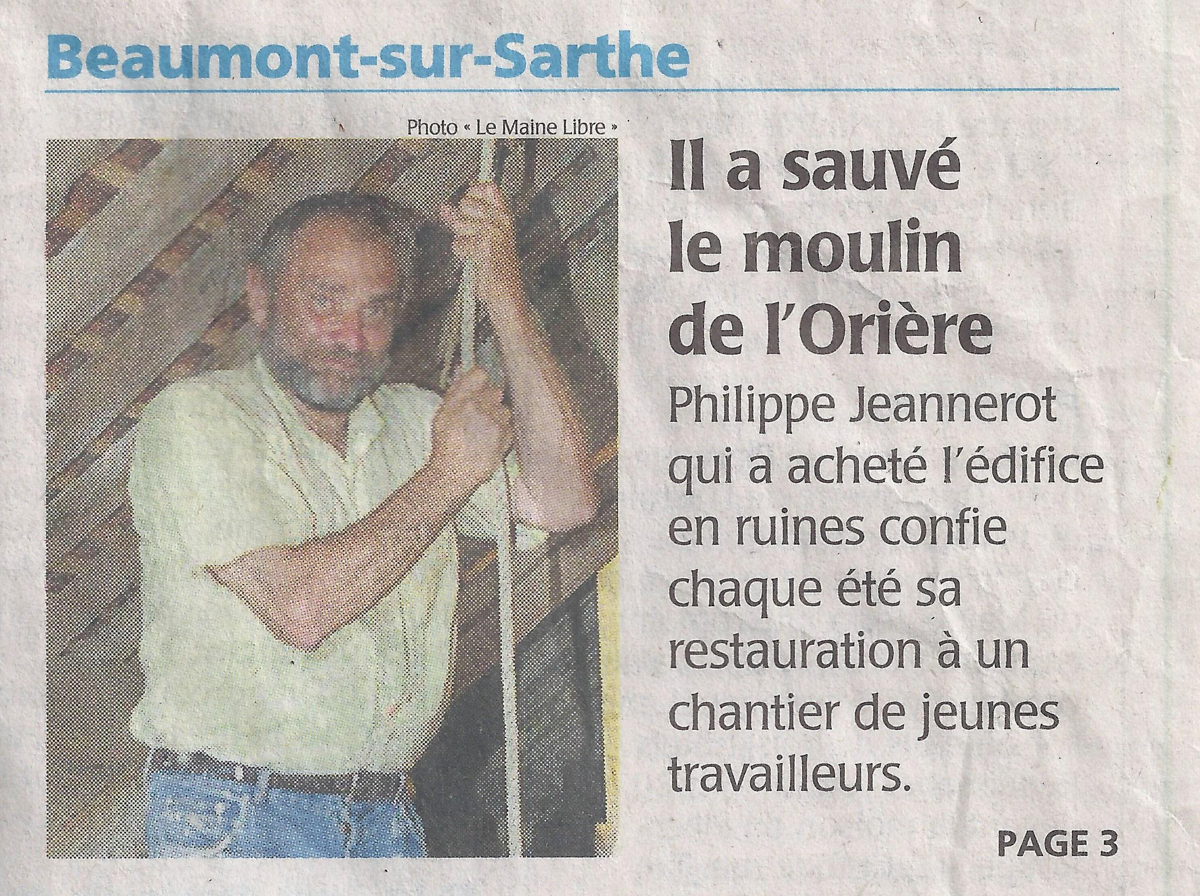 En couverture du Maine Libre d'août 2012