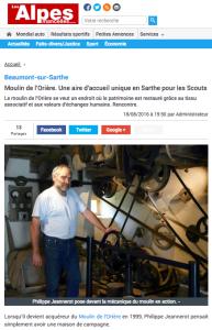 Revue de presse Moulin de l'Orière