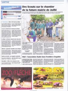 Article paru dans le Maine Libre du 9 août 2012